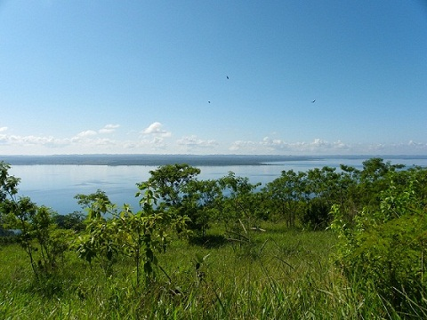 View from the land over the lake Petén Itzá