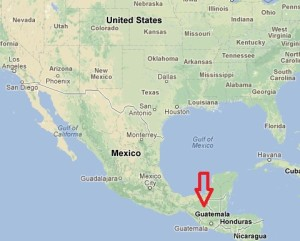 Guatemala is South of Mexico